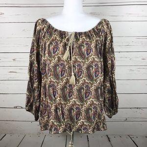[RL denim & supply] Paisley patterned boho blouse